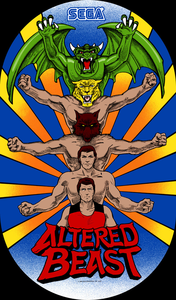 New Altered Beast Sideart Set
