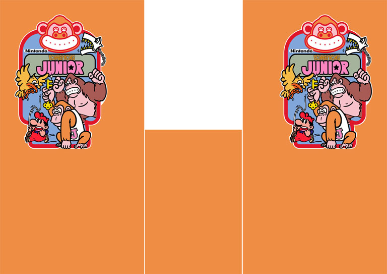 New Donkey Kong Jr full sideart and kickplate set