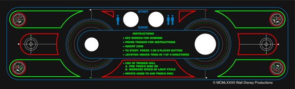 New Upright Tron Control Panel Overlay