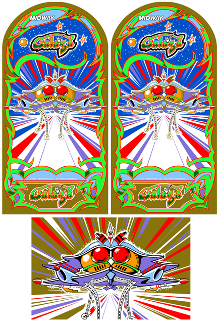 New Galaga(Gold Edition) Sideart/Kickplate Set