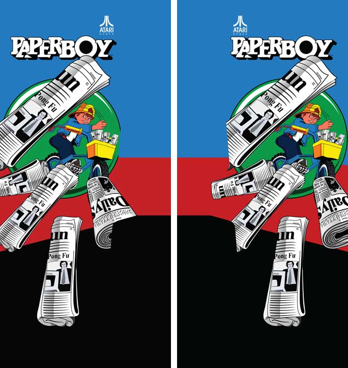 New Atari Paperboy Full Sideart Set: Paper Boy