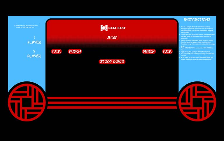 New Kung-Fu Master Control Panel Overlay