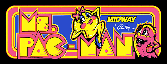 New Ms Pacman Marquee(Pac-Man)
