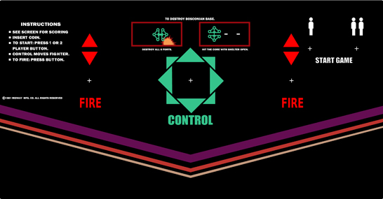 New Bosconian Control Panel Overlay