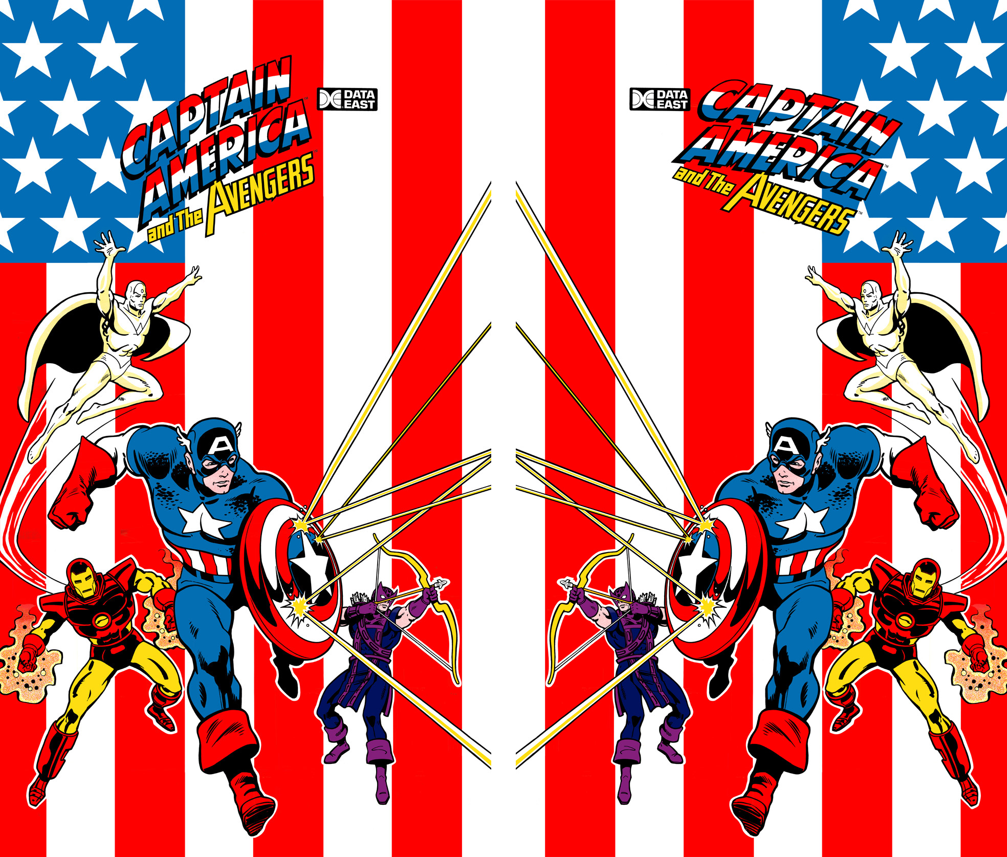 New Captain America And The Avengers Sideart Set