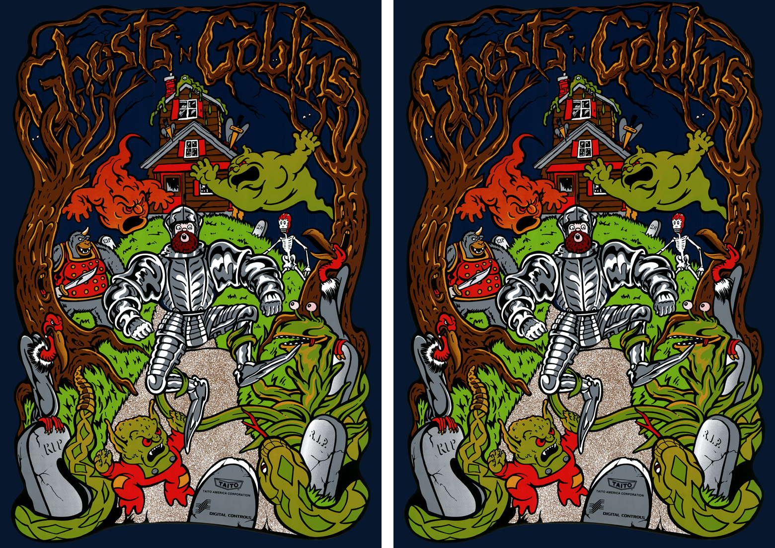 New Ghosts N' Goblins Sideart Set(Ghosts &/And Goblins)