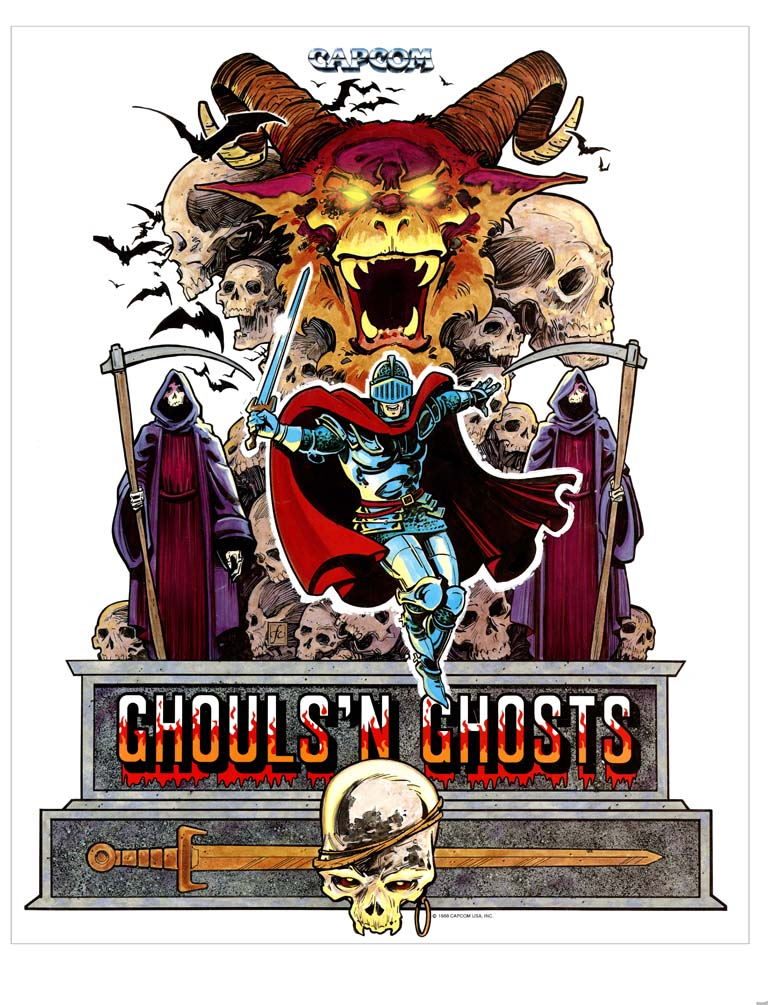New Ghouls N' Ghosts Sideart Set(Ghouls &/And Ghosts)