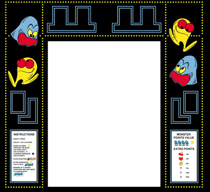 New Upright Pacman Monitor Bezel(Pac-Man)