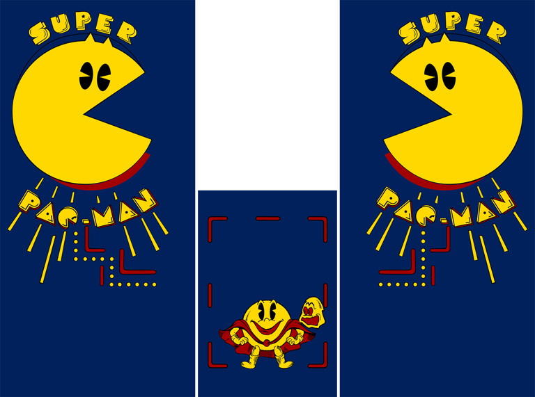 New Super Pacman Full Sideart/Kickplate Set(Pac-Man)